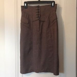 Nanette Lepore size 2 tweedy corseted pencil skirt